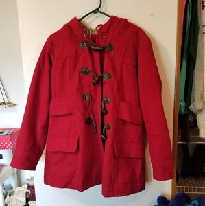 American Eagle Outfitters red peacoat